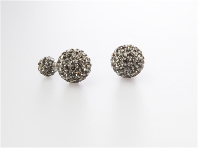 Black Crystal Double-Sided Earrings