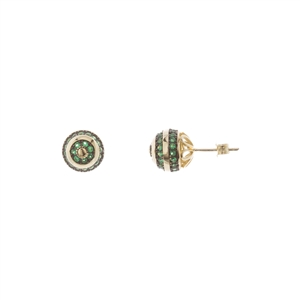 Lab Created Green Spinel Stud Earrings