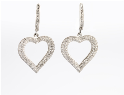 Charming Drop Heart Earrings