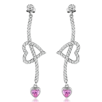 Fancy Arrow Through the Heart Earrings