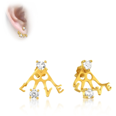 Love Peek-a-Boo Stud Earrings