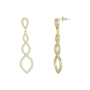 Sophisticated Open Linear Drop Earrings