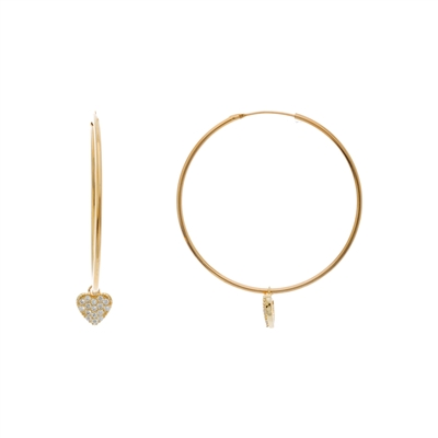 14k Gold Over Silver Hoop Earrings