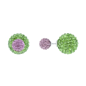 Pink and Green Double Sided Earrings