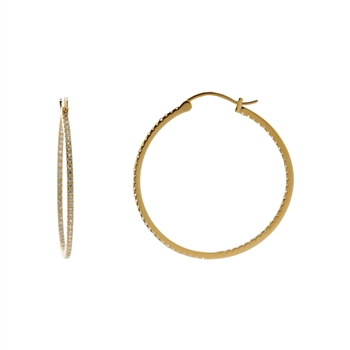 Gold Over Silver Inside-Out Hoop Earrings