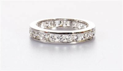 Lovely Eternity Band With Channel Setting