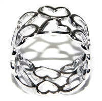 Open Heart Band Ring