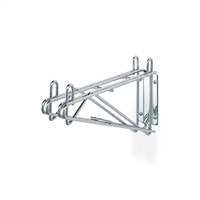 "<b>SES</b> Chrome Double Wire Wall Shelf Bracket <b>14""</b>"