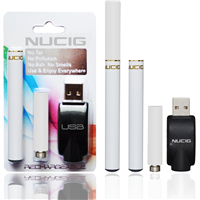 electronic cigarette,  All white mini kit,NUCIG