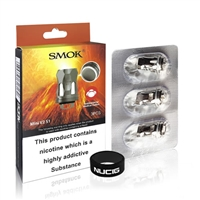SMOK V8 Mini V2 S1 Coils Pack of 3 genuine replacement SMOK V8 Baby V2 S1 stainless steel single mesh coils 0.15 Ohm.