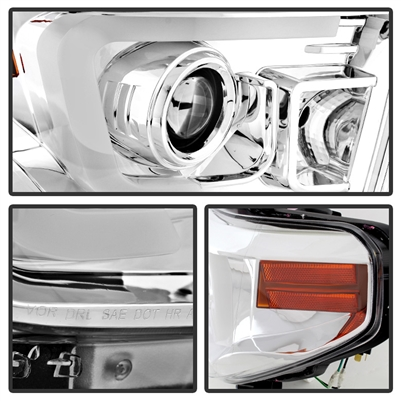 2014 2016 toyota tundra projector light bar drl headlights chrome rh mobbmotorsports com Sealed Beam Headlight Wiring Diagram GM Headlight Switch Wiring Diagram