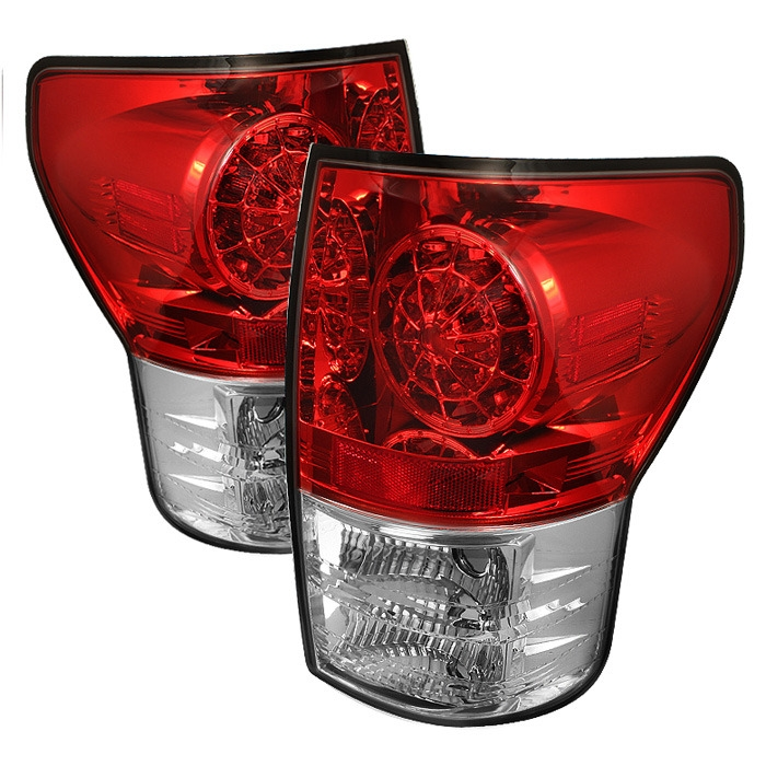 2007 - 2013 Toyota Tundra LED Tail lights - Red/Clear