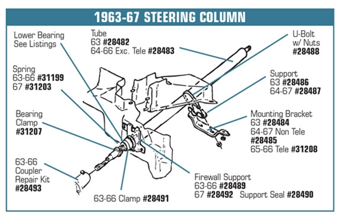 1967 Chevy Steering Column Diagram Schematic Diagrams