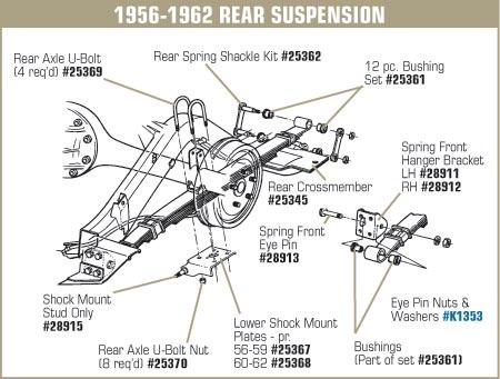 1956 corvette wiring diagram 1 28912 56 62 rear spring front hanger bracket rh  1 28912 56 62 rear spring front hanger
