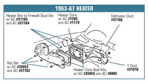 31164 6367 Heater Box To Firewall Stud Set Wo Air Conditioning. Corvette Parts Worldwide Price Guarantee. Corvette. 67 Corvette Air Conditioning Diagram At Scoala.co