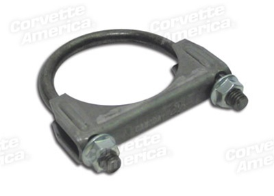 1-33737 1963-1990 Corvette Exhaust Pipe Cl&. 2.5 Inch Heavy Duty  sc 1 st  Corvette Parts Worldwide & 33737 - 63-90 Exhaust Pipe Clamp. 2.5 Inch Heavy Duty
