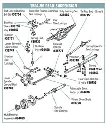 C4 Corvette 1984-1996 Urethane Rear Adjustable Strut Rod Kits