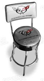corvette part C5 Corvette Counter Stool with Back