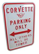 corvette part Corvette Parking Only Sign W Emblem