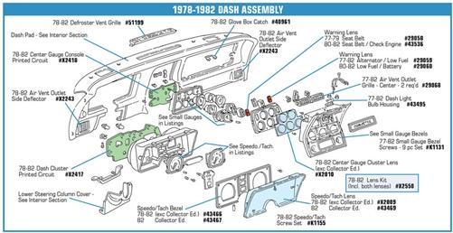 1k1155 7882 Speedometertachometer Cluster Lens Screw Set. Corvette Parts Worldwide Price Guarantee. Corvette. 1973 Corvette Tachometer Diagram At Scoala.co