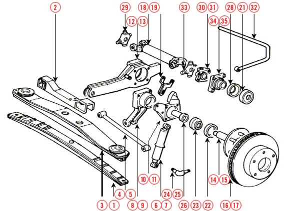 Mini Cooper Rear Suspension Diagram
