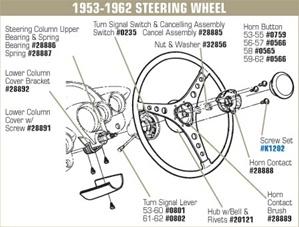 C1 1953 1962 Corvette Steering Wheel