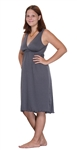 Gray Nursing Nightgown by Amamante Nursingwear