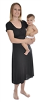 Amamante Lux Jewel Nursing Gown - Black Onyx