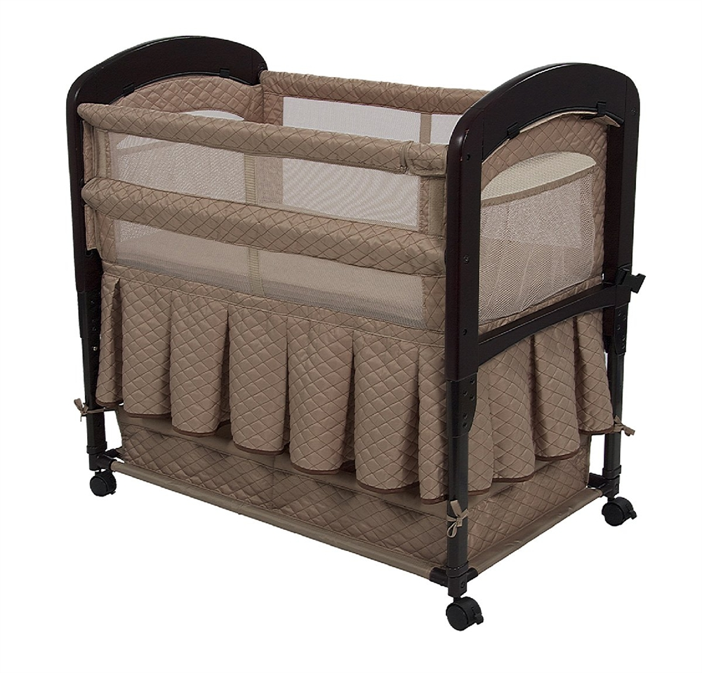 77efe4319 Arm s Reach Cambria Bedside Co-Sleeper Bassinet - Toffee