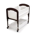Arm's Reach Cambria Bedside Co-Sleeper Bassinet - Espresso/White