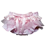 Pinkabella Ruffled Baby Bloomers Diaper Cover 0-6 Mo