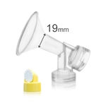 19 mm Breast shield with Valve and Membrane for Medela