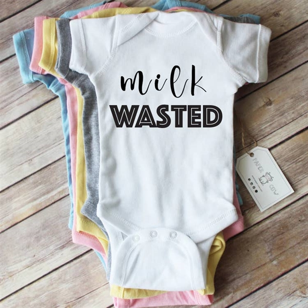 Paper Cow Milk Wasted Baby Bodysuit Newborn