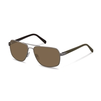 Rodenstock r1413b Sunglasses: Metallic Frames With Brown Arms