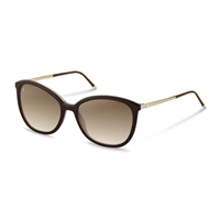 Rodenstock r7404d Sunglasses: Brown Frames, Gold Arms