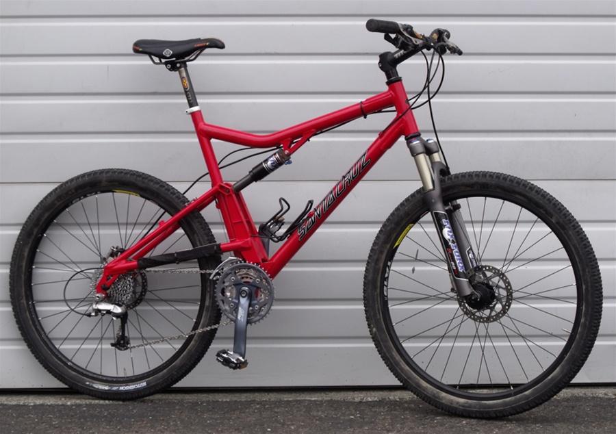 Large Santa Cruz Superlight Full Suspension Fox Disc Mountain Bike 5 ...
