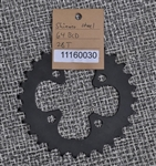 28t Shimano 64 bcd chainring black steel