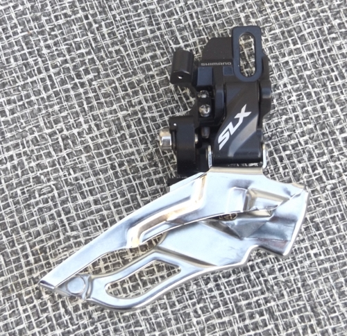 10 speed Shimano SLX FD-M671 triple front derailleur direct mount top pull new