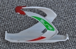 Elite Custom Race fiberglass bottle cage Italian flag