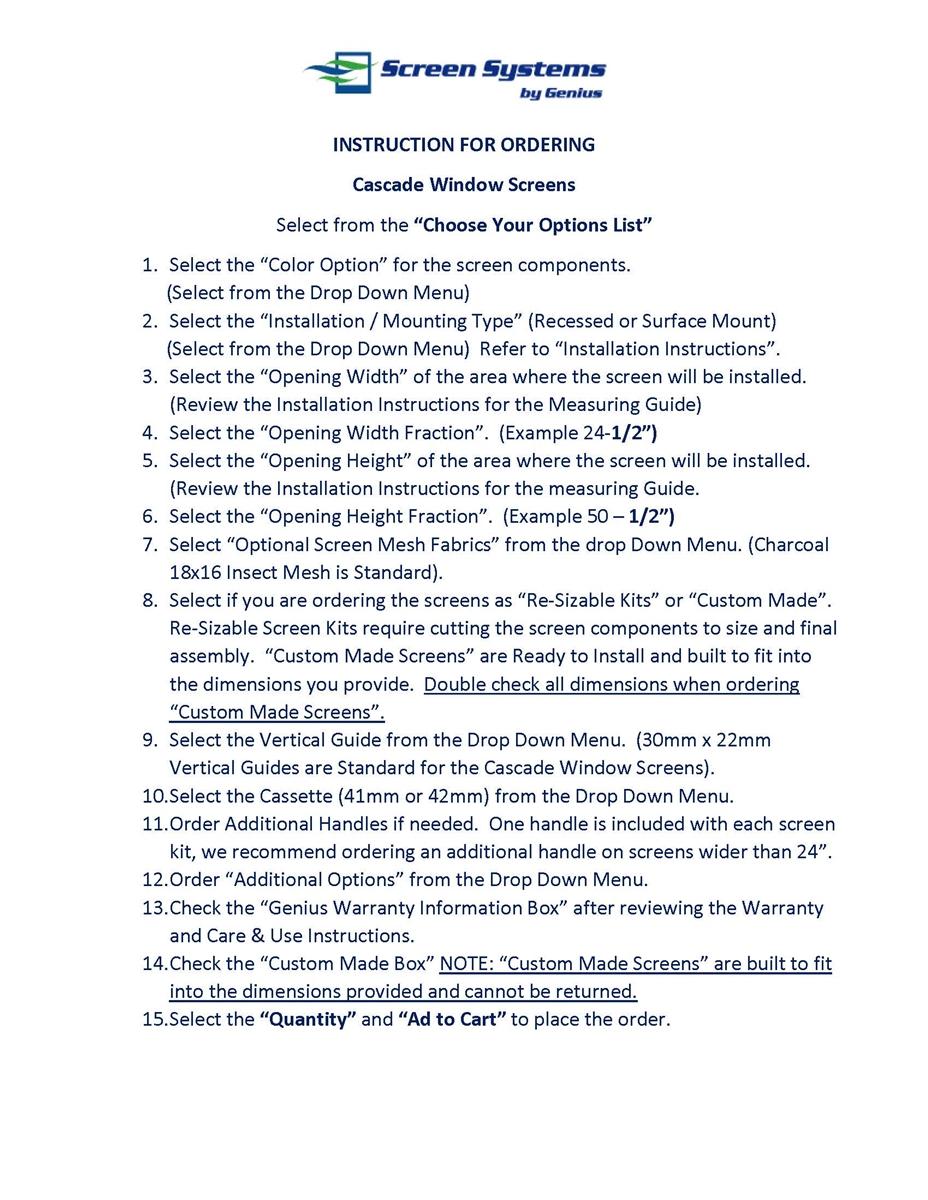 Genius Cascade Retractable Window Screen