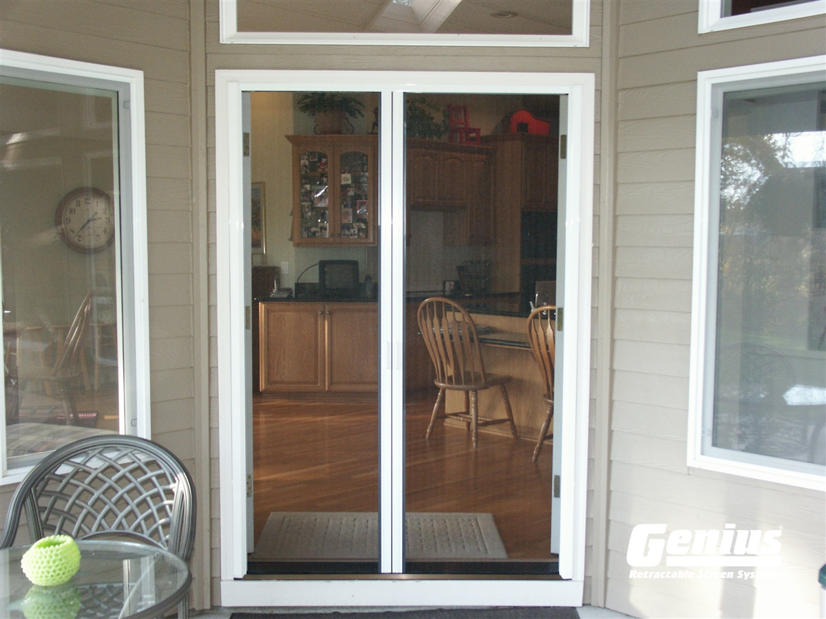 Genius Milano 200 Retractable Door Screens For French Doors