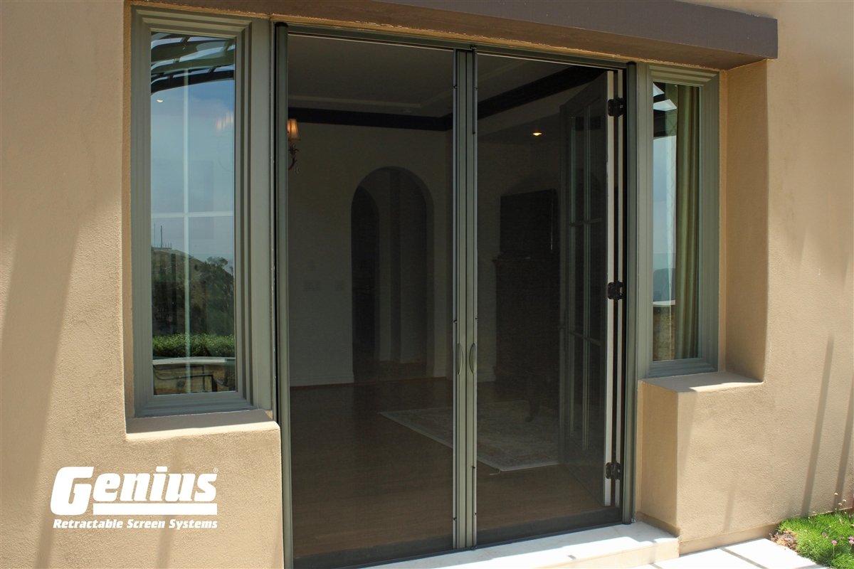 Genius Milano 200 Retractable Screens For Double And French Doors