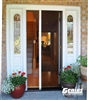 Genius sheer advance pleated re-sizable retractable door screens