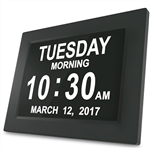 2-in-1 Calendar and Day Clock Plus with Reminder Assistance