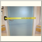 8' Retractable Door Barrier