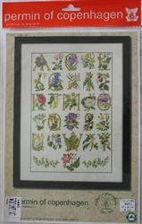 Permin of Copenhagen - Sampler - Flower ABC