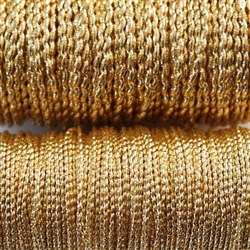 370-080 Check Thread 16 x 3 - Gilt - Per yard
