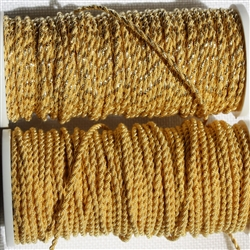 390-075 - Baby Grecian Twists Rough/Smooth - Gilt - Per yard