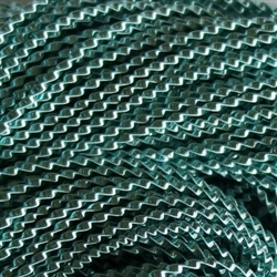 "Ice Blue Coloured Wire Check No 6 - Per 18"" cut"