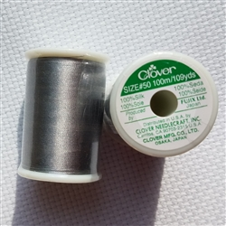 Clover 100% Silk Thread - Gray - Size 50